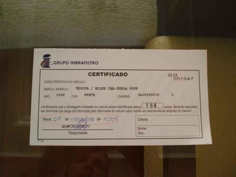 10852 - Hilux SRV 4x4 2006 Blindado