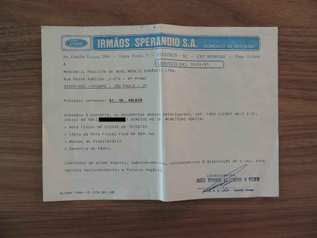 21354 - Escort XR3 1993 10.000 km