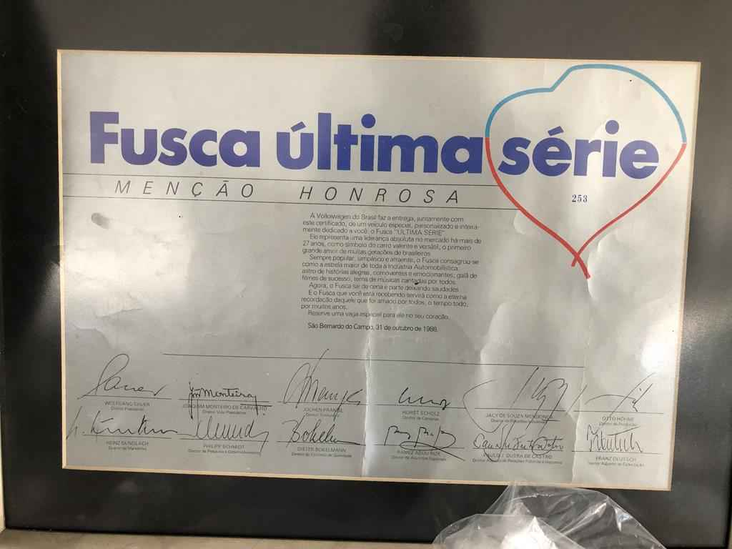 24450 - Fusca 1986 Ultima Serie 0km
