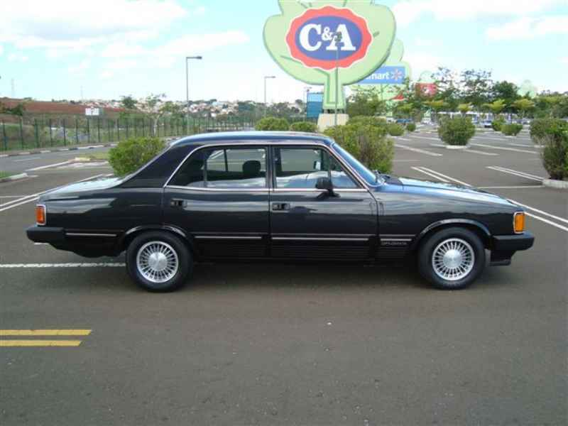 3332 - Opala Diplomata 1987 Preto Metalico